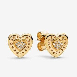 🔥Pandora🔥 Signature Heart Stud Earrings